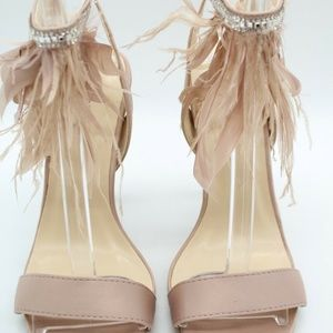 Qupid Dusty Pink Satin Heels Size 6